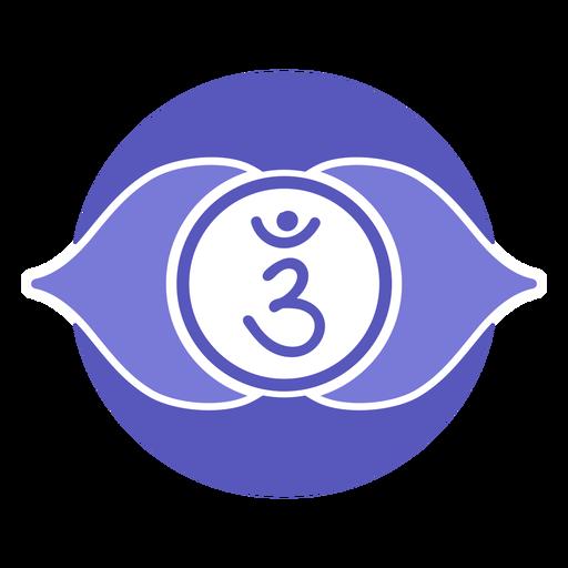 Third eye chakra circle symbol Transparent PNG