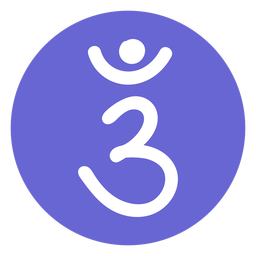 Icono de chakra del tercer ojo