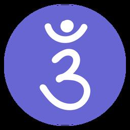 Icono del chakra del tercer ojo