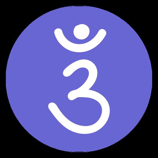 Icono de chakra del tercer ojo Transparent PNG