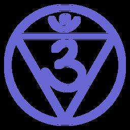 Icono de línea de chakra del tercer ojo