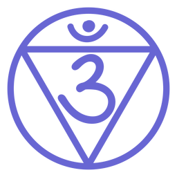 Third eye chakra line icon