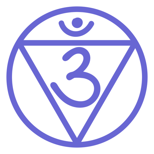 Icono de línea del chakra del tercer ojo