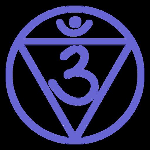 Third eye chakra line icon