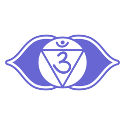 Drittes Auge Chakra-Symbol