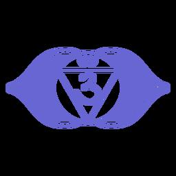Terceiro olho chakra símbolo