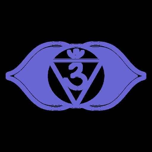 Símbolo del chakra del tercer ojo