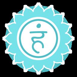 Símbolo do círculo de chakra da garganta