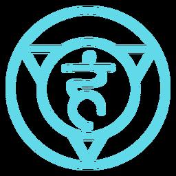 Icono de línea de chakra de la garganta