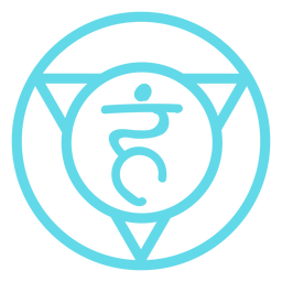 Throat chakra line icon