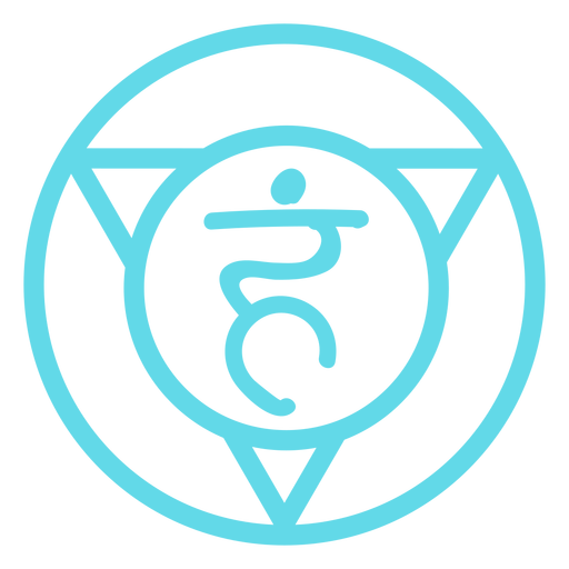 Throat chakra line icon