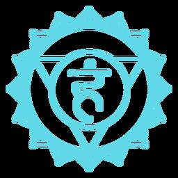 Símbolo de chakra de la garganta