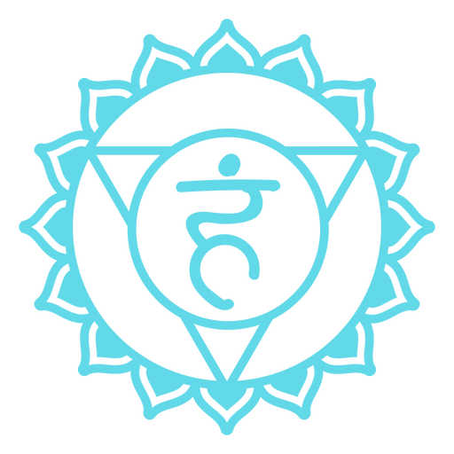 Símbolo del chakra de la garganta