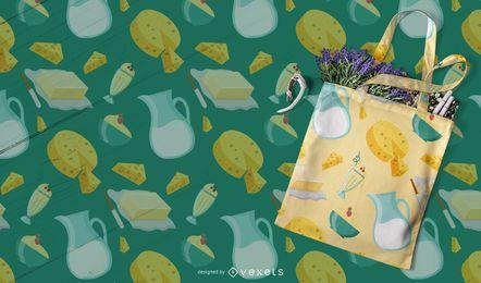 Milchprodukte Muster