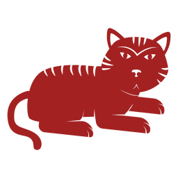 Tiger stripe chinese astrology silhouette