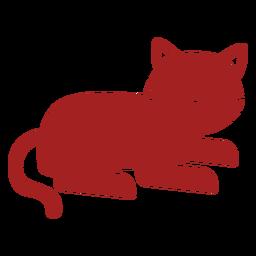 Tigre raya silueta de astrología china