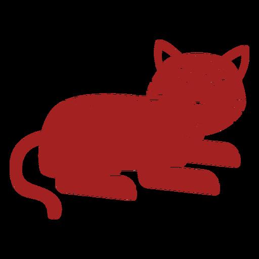 Silueta de astrología china de raya de tigre