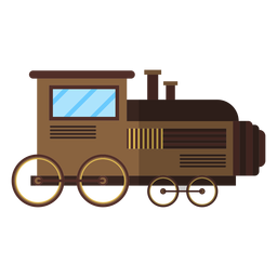 Tren locomotora depósito rueda plana