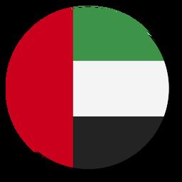 Círculo de icono de idioma de bandera de emiratos árabes unidos