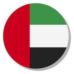 Uae flag language ícone círculo