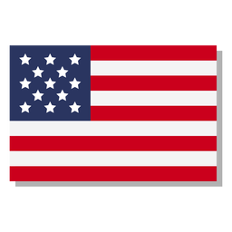 Usa flag language icon