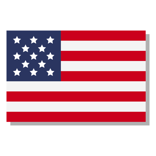Usa flag language icon Transparent PNG