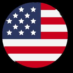 Círculo de ícone de bandeira EUA