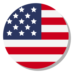 Usa flag language icon circle