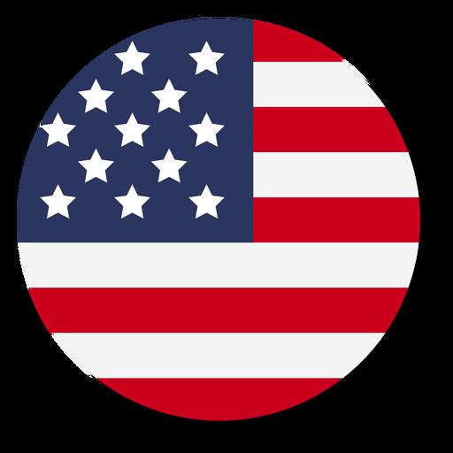 Círculo de ícone de bandeira EUA Transparent PNG