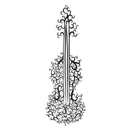 Violín instrumento musical remolino