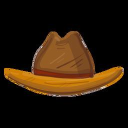 Vista frontal del sombrero occidental