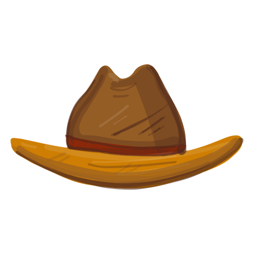 Western hat front view Transparent PNG