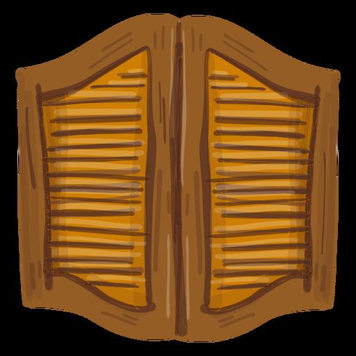 Puertas de salón occidental Transparent PNG