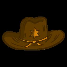 Desenhos animados do chapéu do xerife ocidental