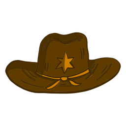 Dibujos animados de sombrero de sheriff occidental