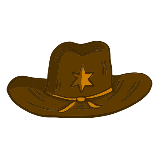 Western sheriff hat cartoon Transparent PNG