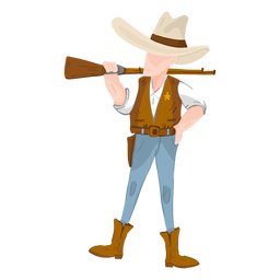 Western sheriff with rifle