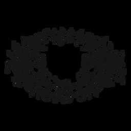 Redemoinho de símbolo musical de nota inteira