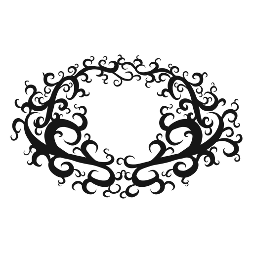 Whole note musical symbol swirl Transparent PNG