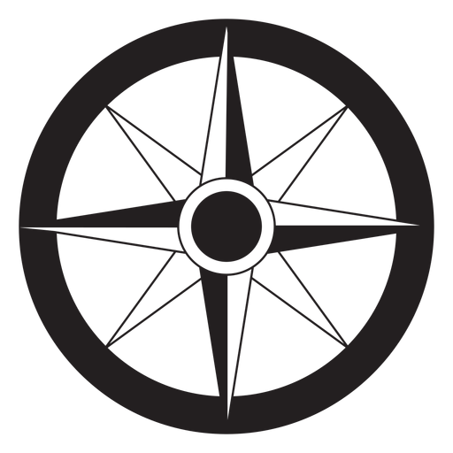 Windrose flecha este nord oeste sur silueta Transparent PNG