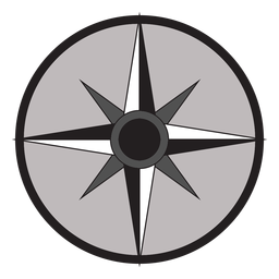 Windrose flecha este sur nord oeste plano