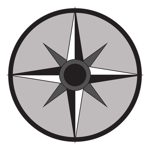Windrose arrow east south nord west flat Transparent PNG