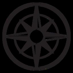 Windrose arrow nord sul oeste leste silhueta