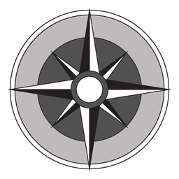 Windrose arrow nord oeste sul leste plano