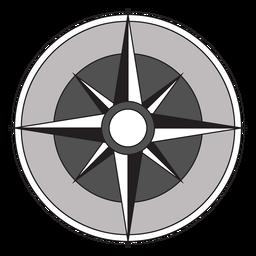 Windrose flecha nord oeste sureste sureste plana