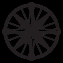 Windrose flecha sur oeste este nord silueta