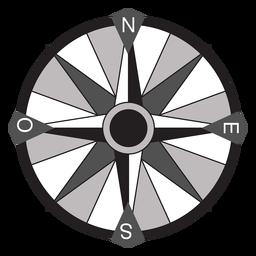 Windrose flecha oeste nord sureste plano