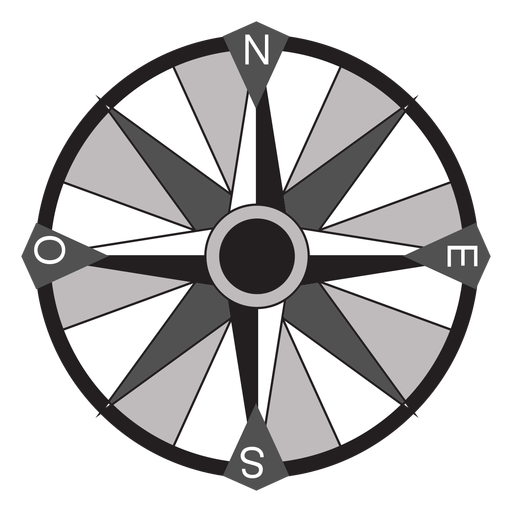 Windrose flecha oeste nord sureste plano Transparent PNG