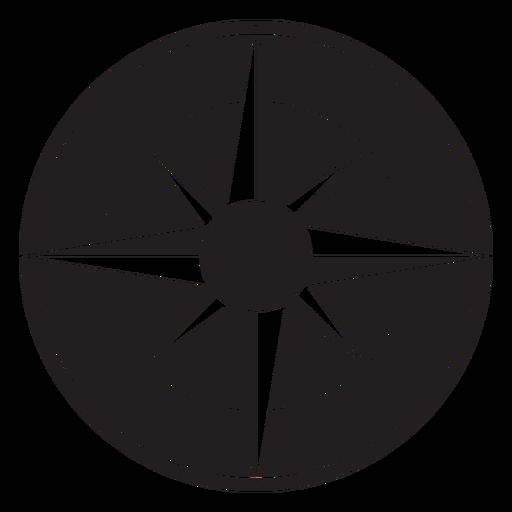 Windrose arrow west nord sureste silueta Transparent PNG