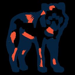 Wolf stehend Duoton